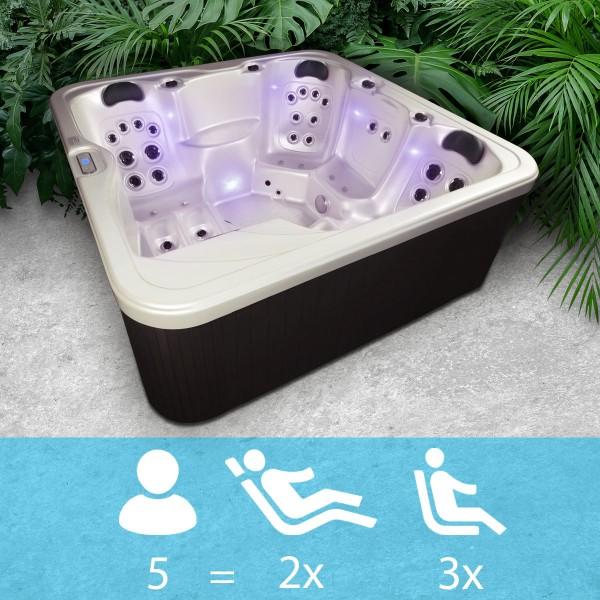 """Whirlpool """"Texas""""- Für 5 Personen mit LED Innenbeleuchtung"""